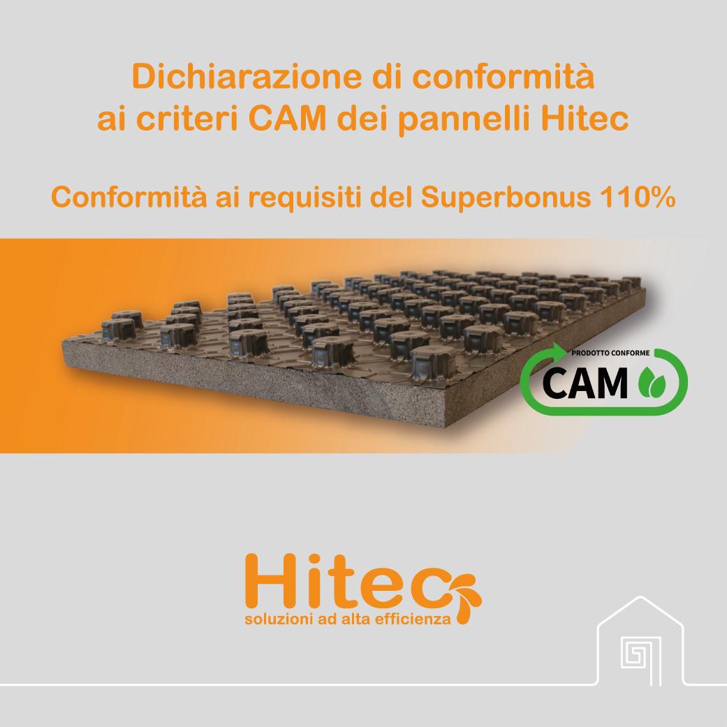 Certificazione CAM dei pannelli Hitec